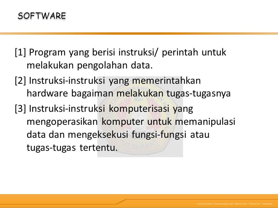 [1] Program yang berisi instruksi/ perintah untuk